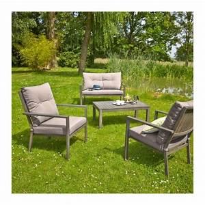 Canapé Jardin Pas Cher : carrefour salon de jardin bas honfleur 1 table basse ~ Premium-room.com Idées de Décoration