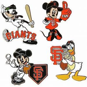 San Francisco Giants Disney 4 Piece Pin Set by Aminco ...