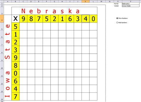 weekly football pool excel spreadsheet  football