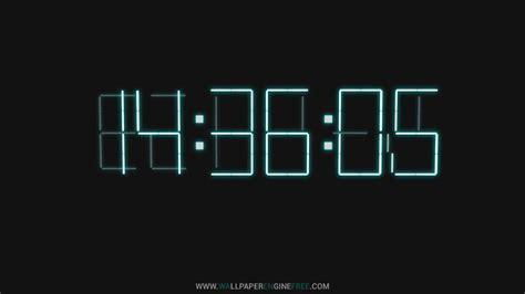 downlaod 3d digital clock wallpaper engine