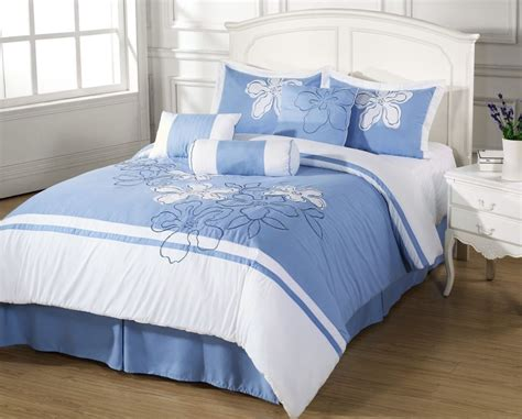 blue and white comforter cielo 7pc comforter set light blue floral