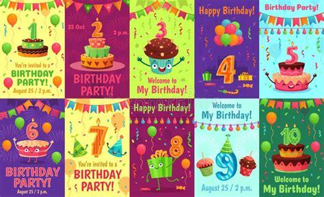 Candles Birthday Invitation Card Stock Illustration