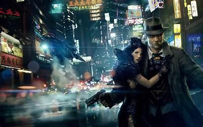 Cyberpunk Dystopia Ronin Dystopian Cyber Neon Background