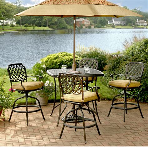 5 heritage bar height patio set by agio family leisure