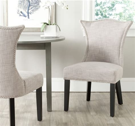 safavieh ciara grey side chair set of 2 contemporary