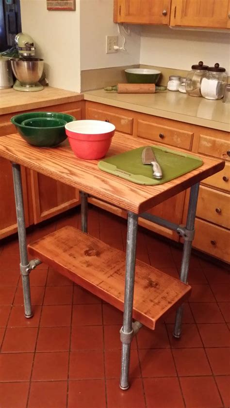 pipe kitchen island kitchen island industrial reclaimed wood made with kee 1526