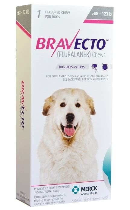 bravecto  mg  dogs   lbs  chewable tablet