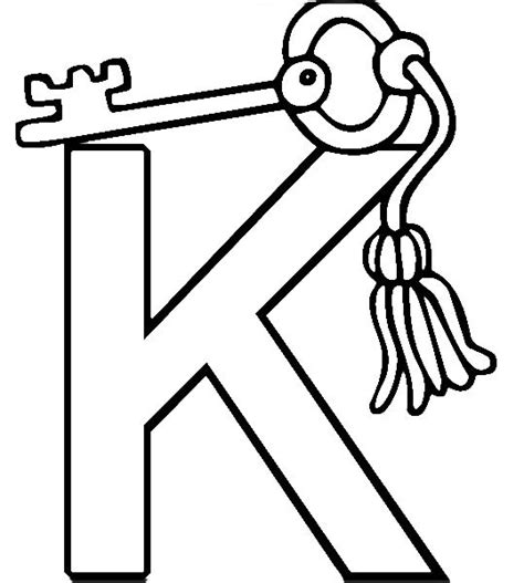 key coloring page k for key coloring pages coloring pages