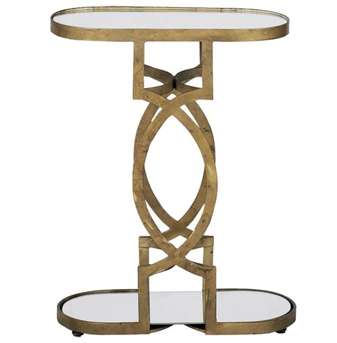 antique brass side table natasha art deco antique brass geometric side end table