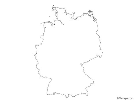 White germany outline free vector. Outline Map of Germany in 2020 | Map vector, Map, Vector free