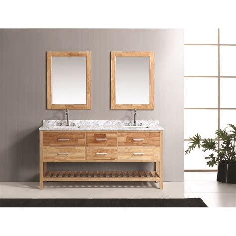 honey oak design element 72 quot bathroom vanity set with
