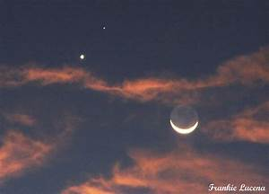 Moon Venus and Mars with Orange Clouds - Sky & Telescope