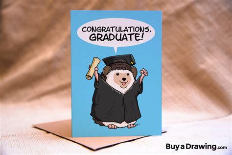 hedgehog graduation card congratulations graduate card