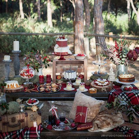 inspirate mesa dulce navidena en el campo