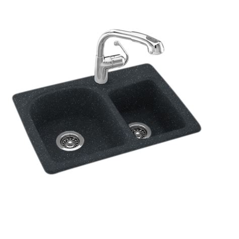 swanstone granite kitchen sinks dual mount composite 25 in 1 bowl kitchen 5955