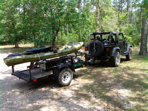 Jeep With Converted Utility Trailer Kayak Trailers