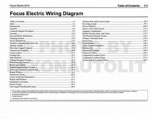 2014 Ford Focus Electric Wiring Diagram Manual Original