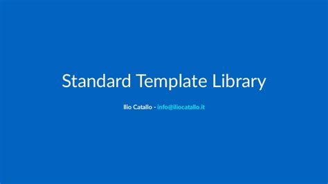 standard template library in c c standard template library