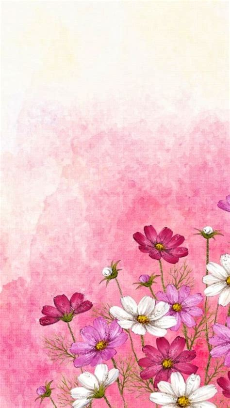 Your watercolor flowers stock images are ready. Hoja flores | Watercolor flowers paintings, Watercolor flowers, Flower backgrounds