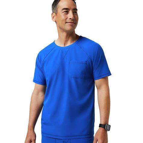 Jaanuu Mens Crew Neck Scrubs Top | Medical Smart Shirt | Kara
