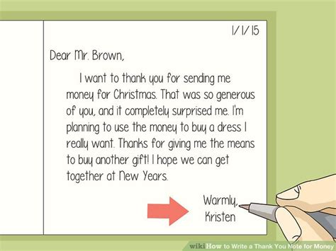 thank you card template for money how to write a thank you note for money with sle thank
