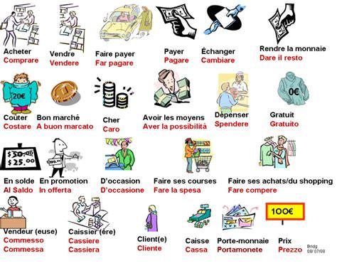 Vocabulaireles Achatsitalien  Italiano Pinterest