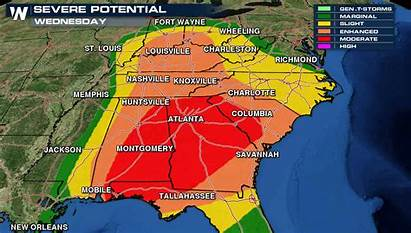 Weather Southeast Severe Expected Closing Ahead Schools