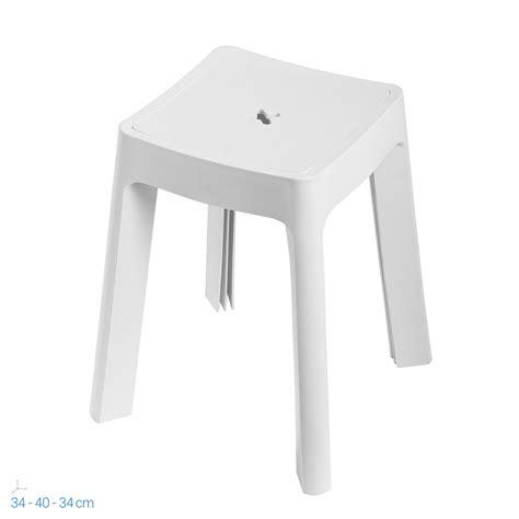 Sgabello Contenitore by Sgabello Contenitore Bianco In Resina Per Doccia Box Bagno