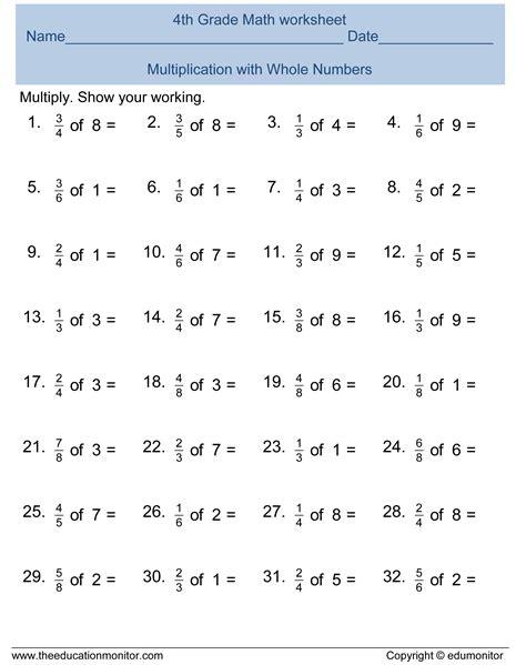 free printable math worksheets 4th grade printable worksheets for 4th grade math kelpies