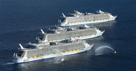 World's Largest Cruise Ships In Historic Meetup