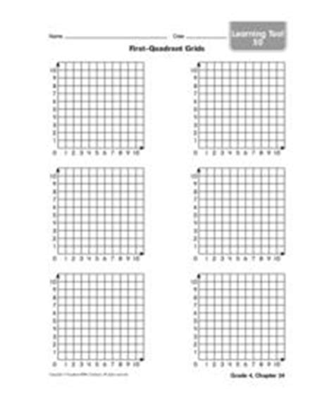 Firstquadrant Grids 4th  5th Grade Worksheet  Lesson Planet