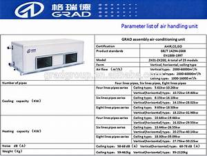 Horizontal Type Ceiling Mounted Air Handling Units For