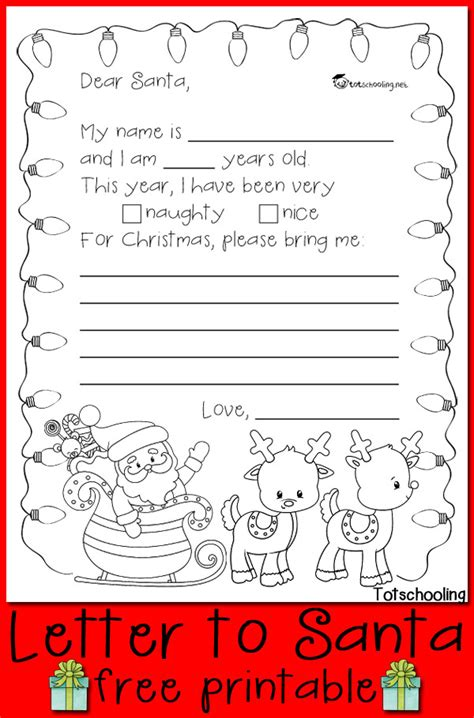 letter  santa printable totschooling toddler preschool kindergarten educational