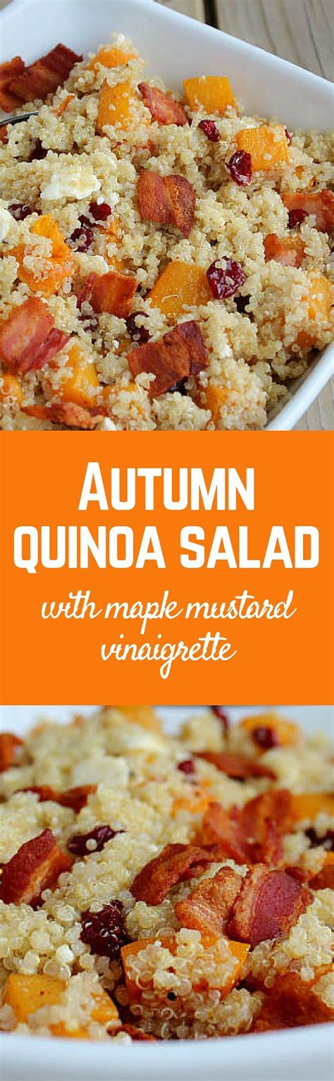 This Autumn Quinoa Salad With Roasted Squash And Bacon Is