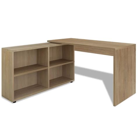 corner desk with shelves vidaxl co uk vidaxl corner desk 4 shelves oak
