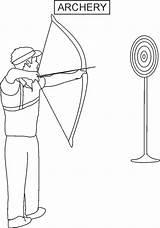 Archery Coloring Printable Worksheets Arrow Worksheet Activities Esl Beginners Shoot Father sketch template