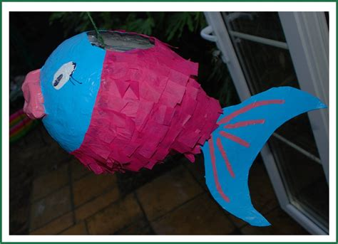 how to make a pinata how to make a paper m 226 ch 233 pi 241 ata fish red ted art s blog