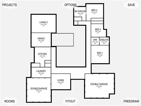 draw a floor plan free draw house floor plans