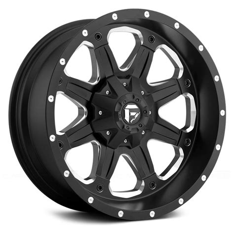 black wheels fuel d534 boost 1pc wheels black with milled accents rims