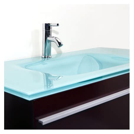 chambre laqué blanc brillant meuble vasque verre salle de bain