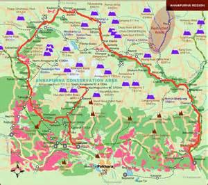 Nepal Annapurna Trekking Map