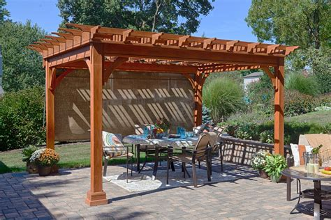 traditional pine pergola from dutchcrafters amish furniture