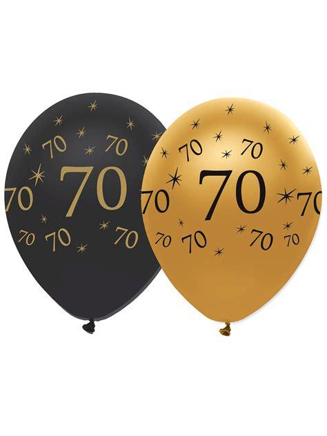 ballons en latex  ans noirs  dores  cm decoration