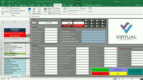 design  excel cash flow projection worksheet