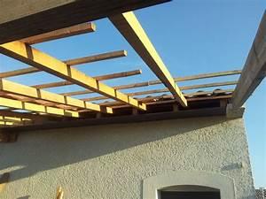 Avancée de toit pour couvrir terrasse