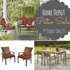 Home depot patio furniture sale 50 off sets today only for Hometown furniture sale