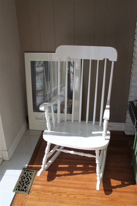 white wooden rocking chair scandinavian rocker durable
