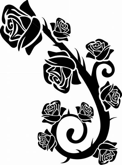 Roses Ornament Branch Icon Svg Icons Rose