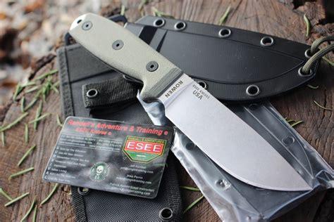 esee stainless sheath canada steel slideshow knives bushcraft lanyard 1768