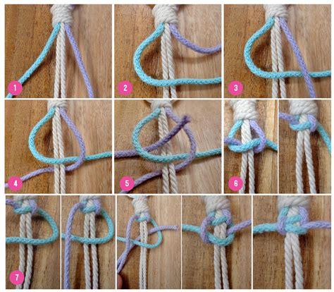 basic technique macrame square knot